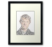John Watson From Words Framed Print