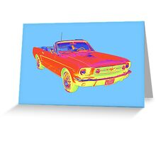 1965 Ford Mustang Convertible Pop Image Greeting Card
