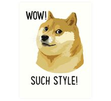 WOW! SUCH STYLE! Doge Meme T Shirts and More Art Print
