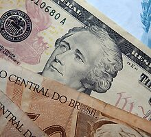 Brazilian Reals and dollars cash by stuwdamdorp