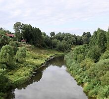 Rural river landscape by mrivserg