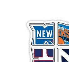 New York Pro Sports TETRAlogy! Yankees, Giants, Rangers and Knicks by KrisFire