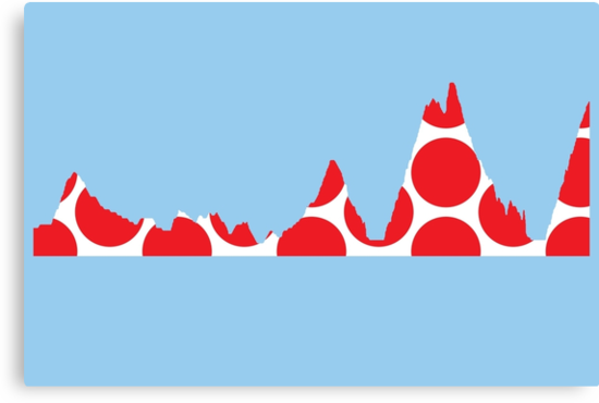Red Polka Dot Mountain Profile by sher00
