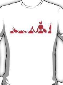 Red Polka Dot Mountain Profile T-Shirt