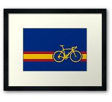 Bike Stripes Spanish National Road Race Framed Print