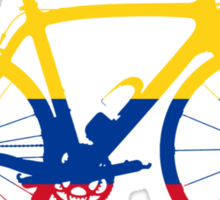 Bike Flag Colombia (Big) Sticker