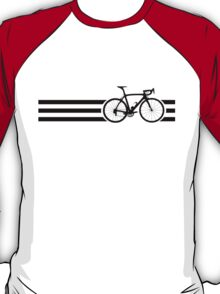 Bike Stripes Black T-Shirt