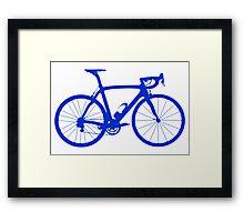 Bike Blue (Big) Framed Print