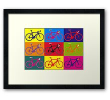 Bike Andy Warhol Pop Art Framed Print