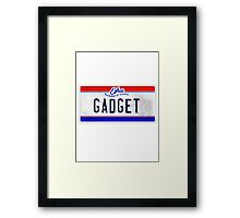License Plate - GADGET Framed Print