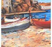 Boats on shore Photographic Print