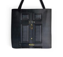 Black Door with 221b number Tote Bag