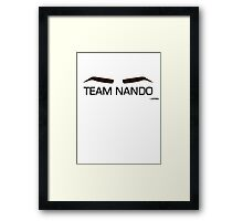 Team Nando Framed Print