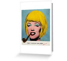 Bob Marilyn Monroe with surreal pipe Greeting Card