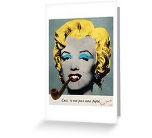 Vampire Marilyn with surreal pipe Greeting Card