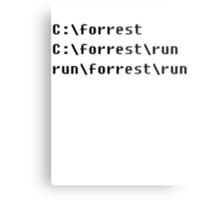 Run, Forrest, Run! Metal Print