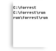 Run, Forrest, Run! Canvas Print