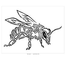 """Bee Spirit"" ver.1 - Surreal abstract tribal bee totem animal Photographic Print"