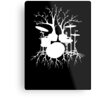 """""""Live the Beat to the Tempo of Creation"""" ~ drum tree art , version1 Metal Print"""