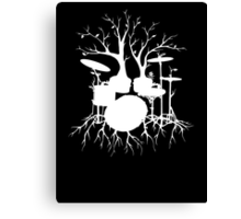 """Live the Beat to the Tempo of Creation"" ~ drum tree art , version1 Canvas Print"