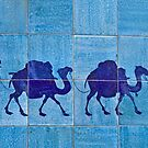 Silk Road Tile Camels, Khiva by Gillian Anderson LAPS, AFIAP