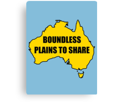 Boundless Plains to Share Canvas Print