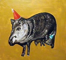 Javelinas with Party Hats by Adam Berardi