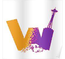 UW logo + Space Needle and Mt. Rainier P&G Poster
