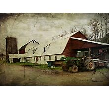 Farm Work ~ a Hard Life Photographic Print