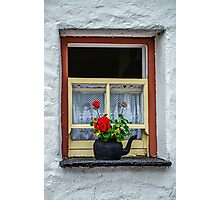 Traditional Cottage Window - Bunratty - County Clare - Ireland Photographic Print