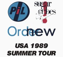 10% OFF PIL, New Order, Sugar Cubes (USA SUMMER 89 TOUR) Desgin by Shaina Karasik