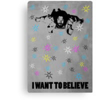 Dude I Want To Believe 3 Canvas Print