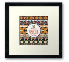 Ethnic print vector pattern background Framed Print