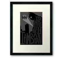 Batman Typography Poster Framed Print