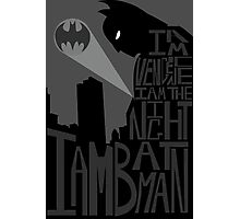Batman Typography Poster Photographic Print