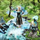 Spirits of the Water {Digital Fantasy Figure Illustration} by Grant Wilson