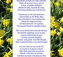 "Wordsworth's ""Daffodils"", especially good as a card. by Philip Mitchell"