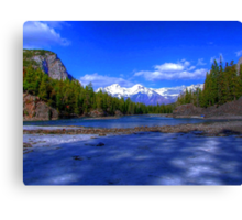 Bow River HDR, Canada Canvas Print