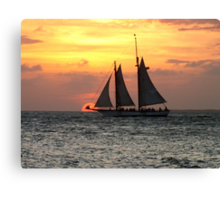 Sunset Sail in Key West Canvas Print