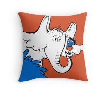 Horton Hears Doctor Who! Throw Pillow