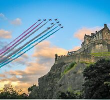 The Red Arrows Edinburgh Castle by This is Fife Scotland