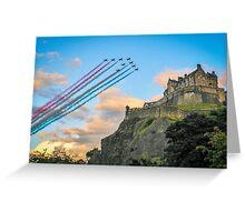 The Red Arrows Edinburgh Castle Greeting Card