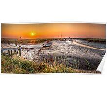 Sunset at Morston Creek Poster