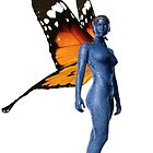 mystique with wings by sherlokian