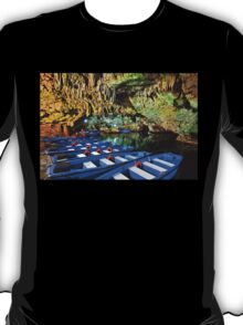 Boat ride in the underworld - Diros caves T-Shirt
