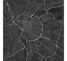 Lyon, France Map. (White on black) Photographic Print