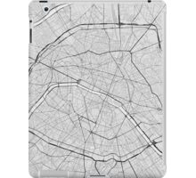 Paris, France Map. (Black on white) iPad Case/Skin