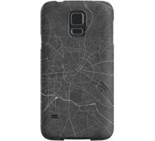 Berlin, Germany Map. (White on black) Samsung Galaxy Case/Skin