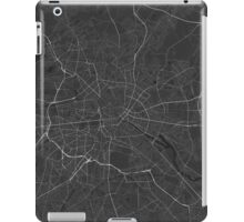 Berlin, Germany Map. (White on black) iPad Case/Skin