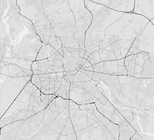Berlin, Germany Map. (Black on white) by Graphical-Maps